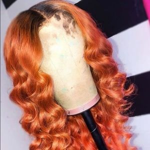 "Fire Red Lace Front Unit 22"" Wig"